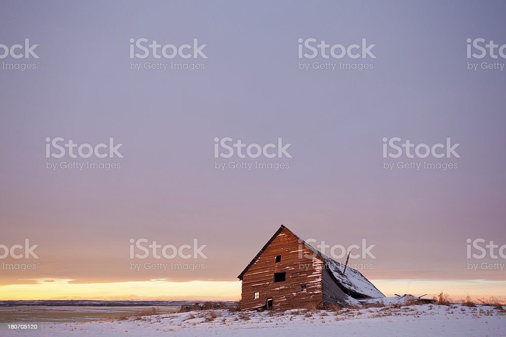 Collapsing Shed on the Plains royalty-free stock photo