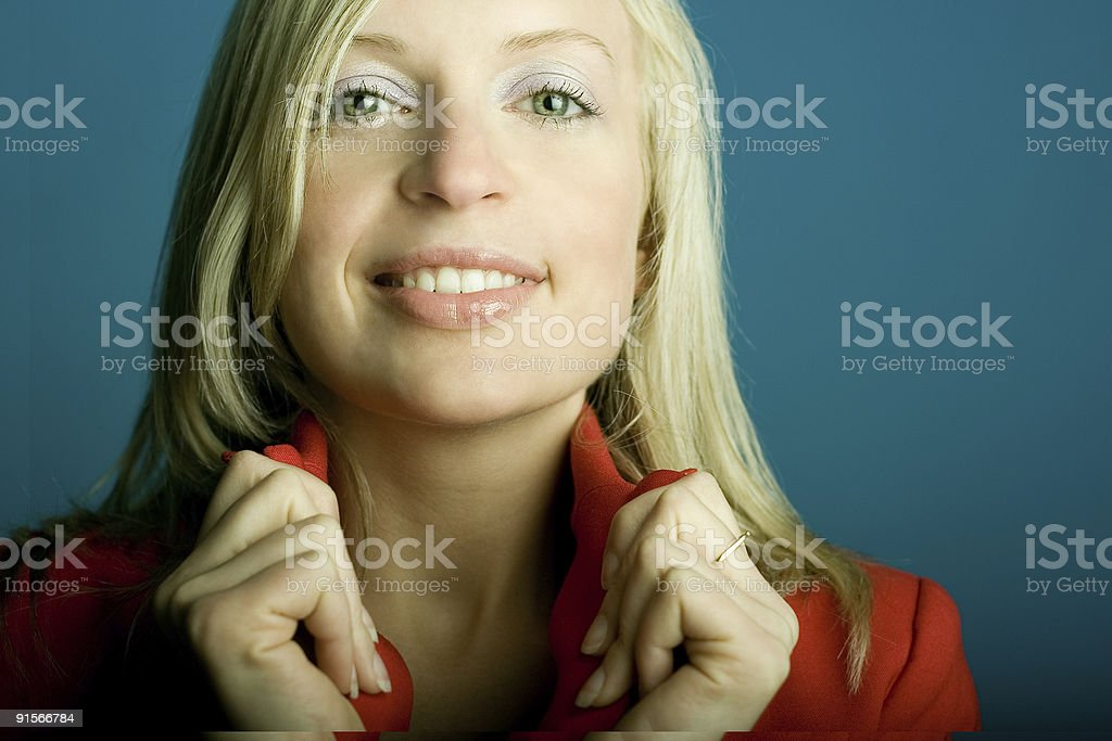Collar Girl royalty-free stock photo