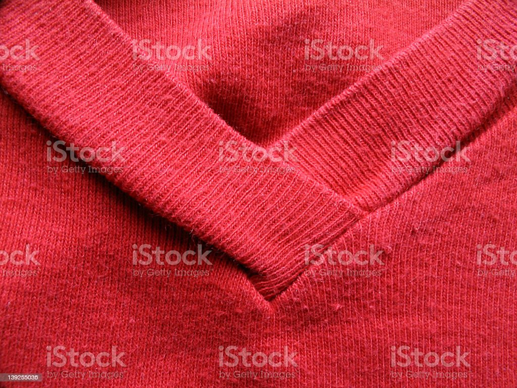 Collar of red t-shirt royalty-free stock photo
