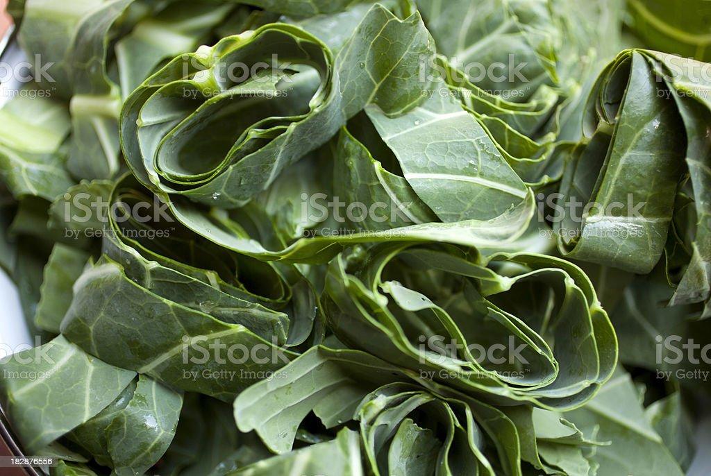 Collard greens stock photo