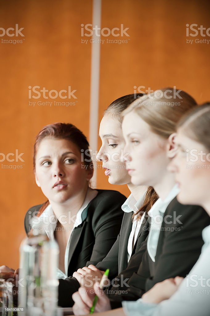 Colleagues at Business Conference royalty-free stock photo