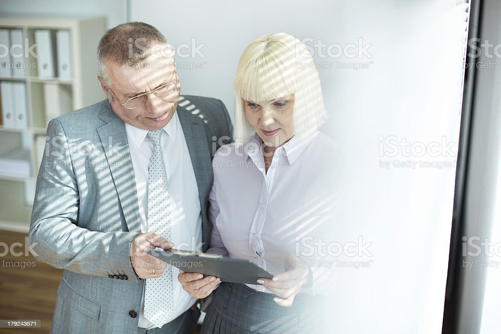 Colleagues at work royalty-free stock photo