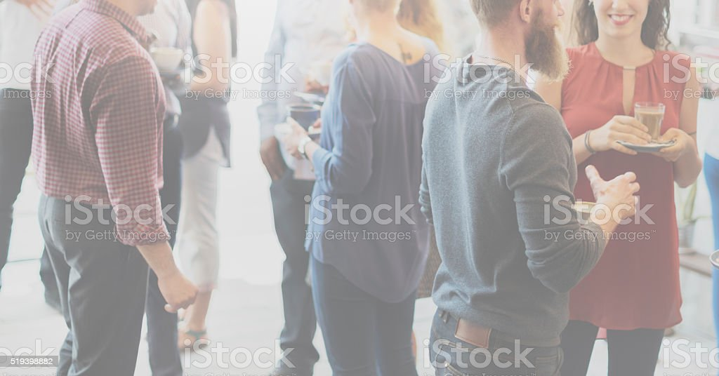 Colleagues Buffet Party Brunch Dinning Concept stock photo