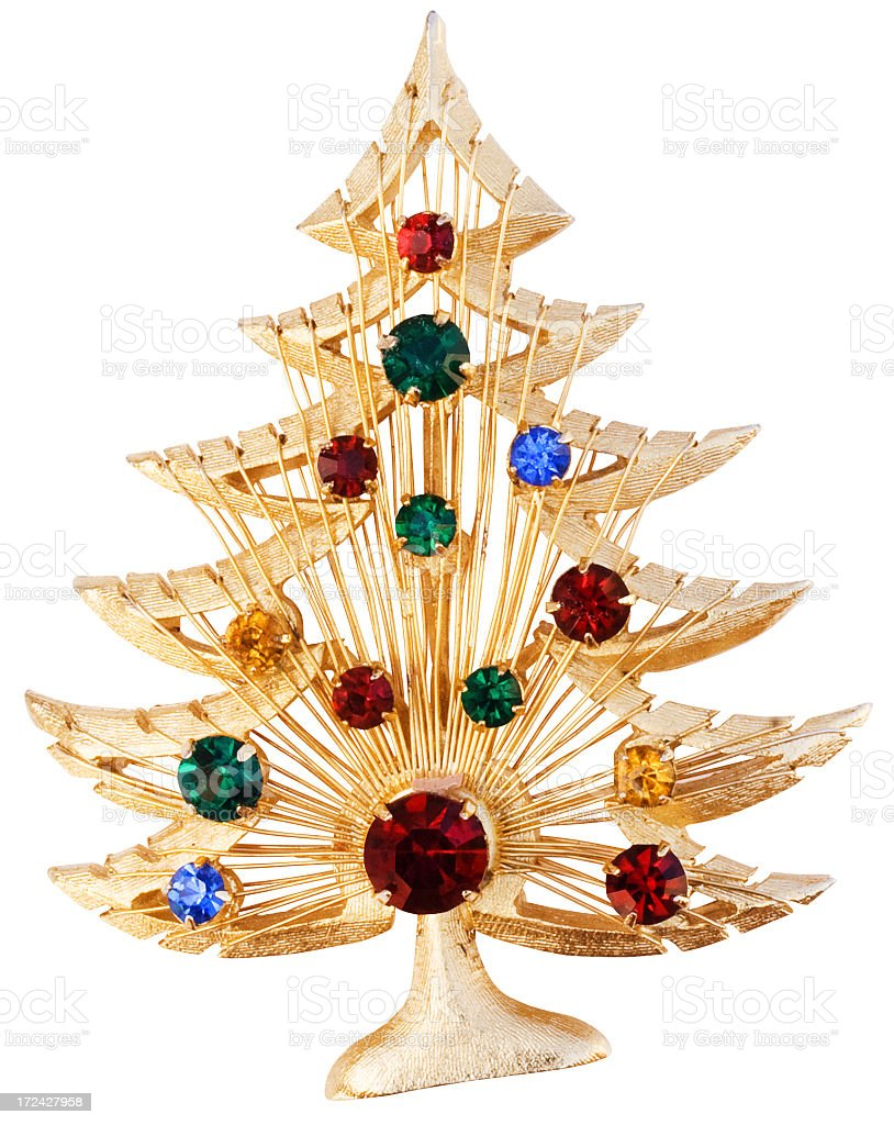 Collectable Christmas Tree Pin. royalty-free stock photo