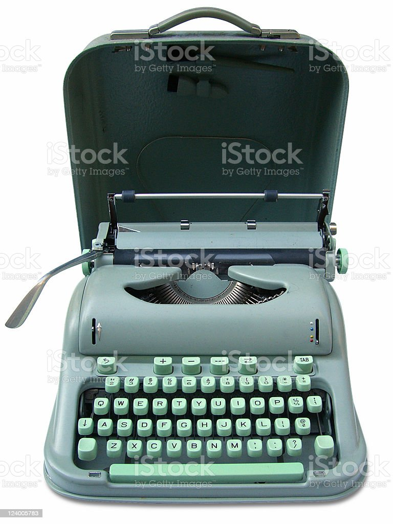 collectable typewriter stock photo