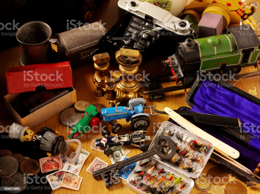 Collecting Collectables stock photo