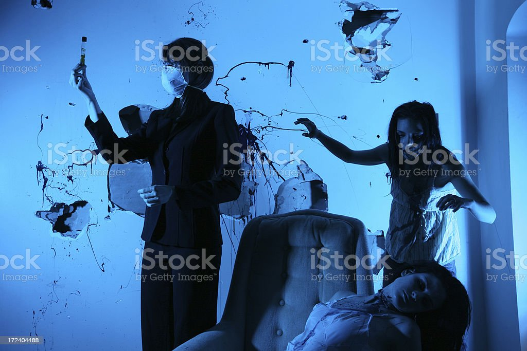 CSI Collecting Evidence royalty-free stock photo