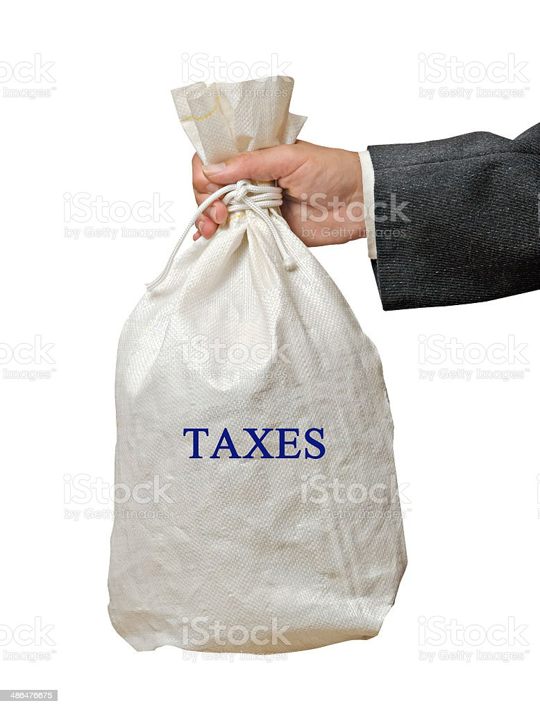 Collecting taxes stock photo