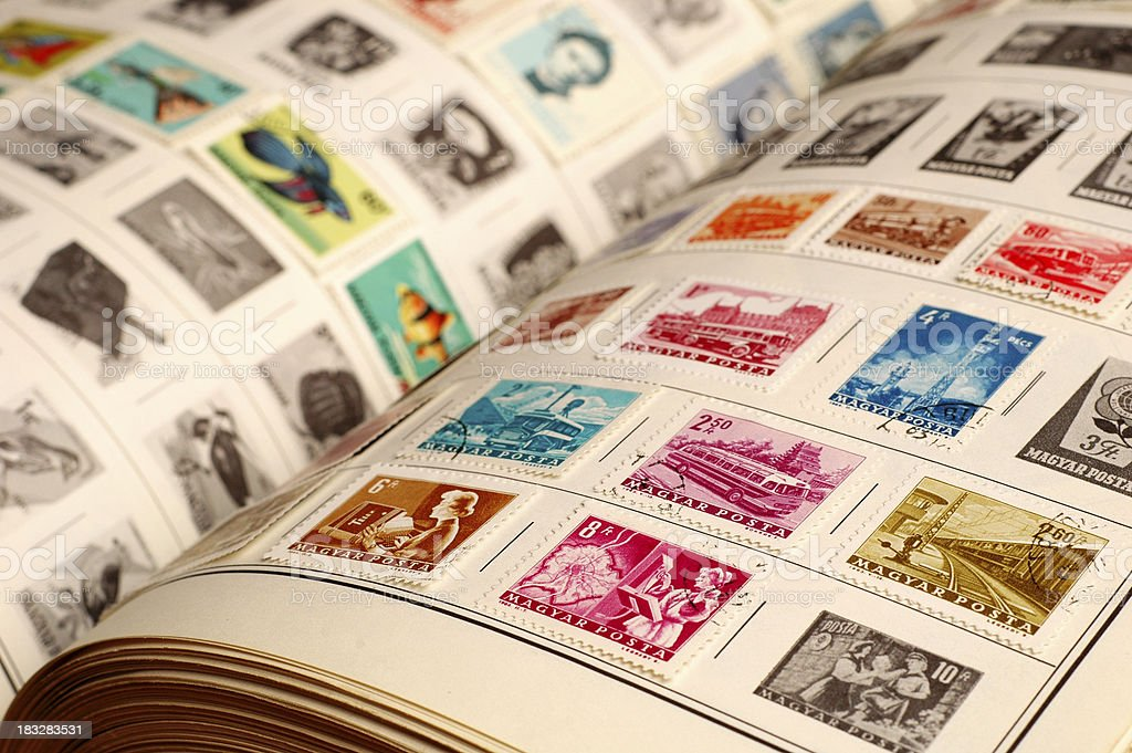 Collecting Vintage Stamps - #1 royalty-free stock photo