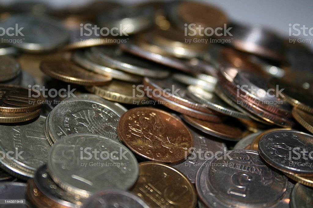 Collection coin of Russia - 10 roubles stock photo