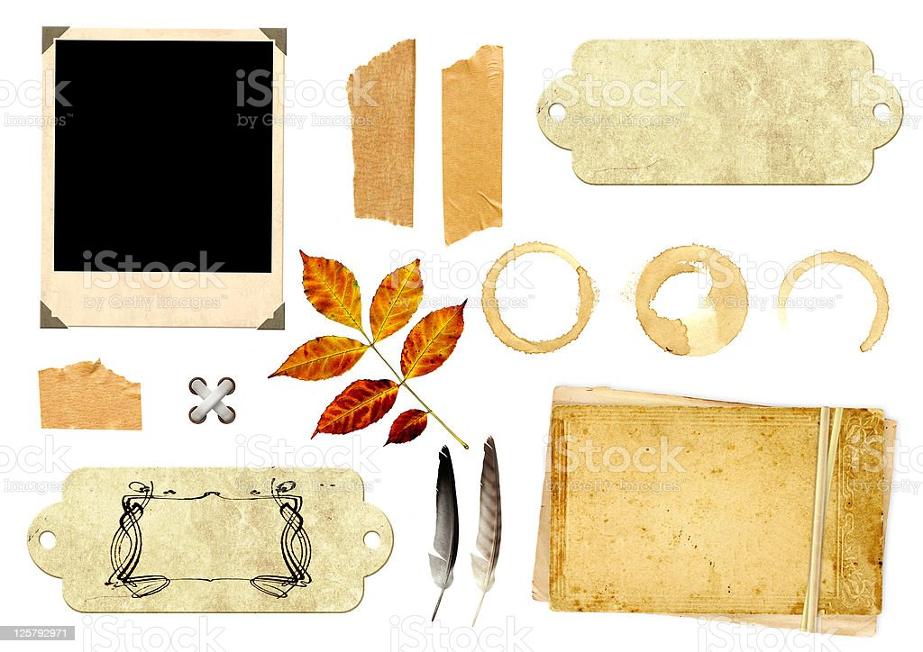 Collection elements for scrapbooking royalty-free stock photo