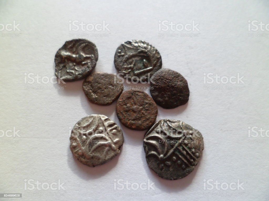 Collection Of 1st Century Boudicca Iceni Hammered Coins stock photo