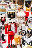 Collection of a traditional looking nutcracker dolls