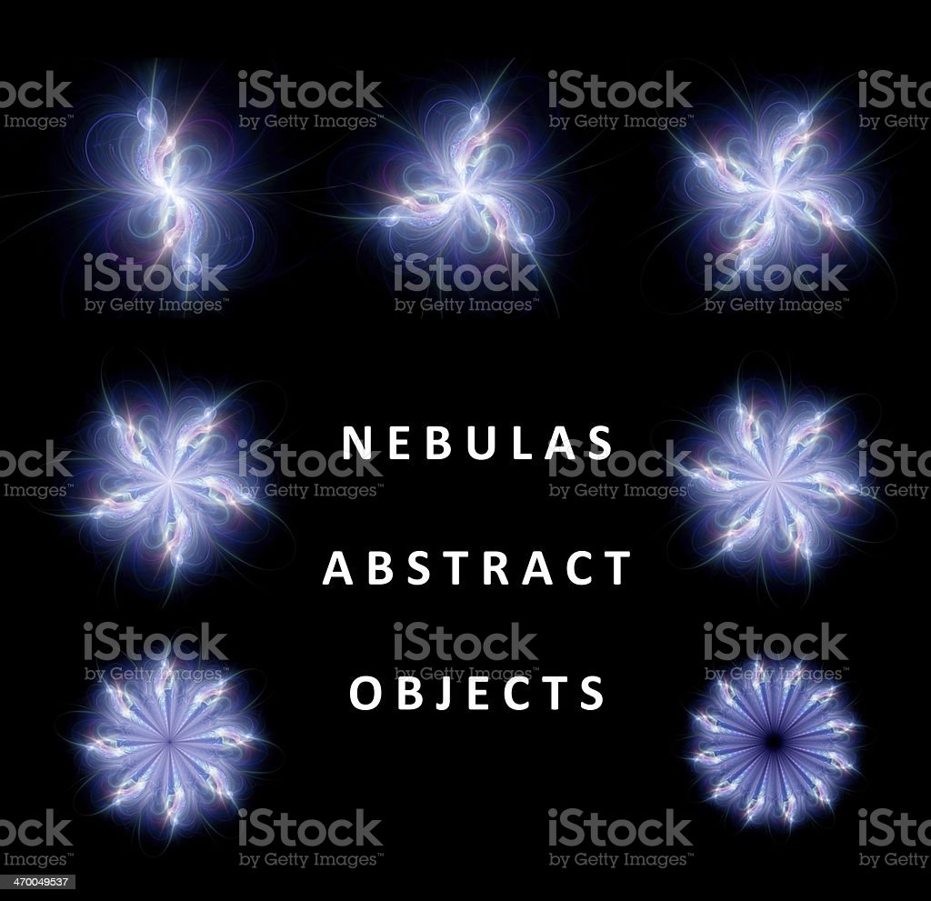 Collection of abstract nebulas royalty-free stock photo