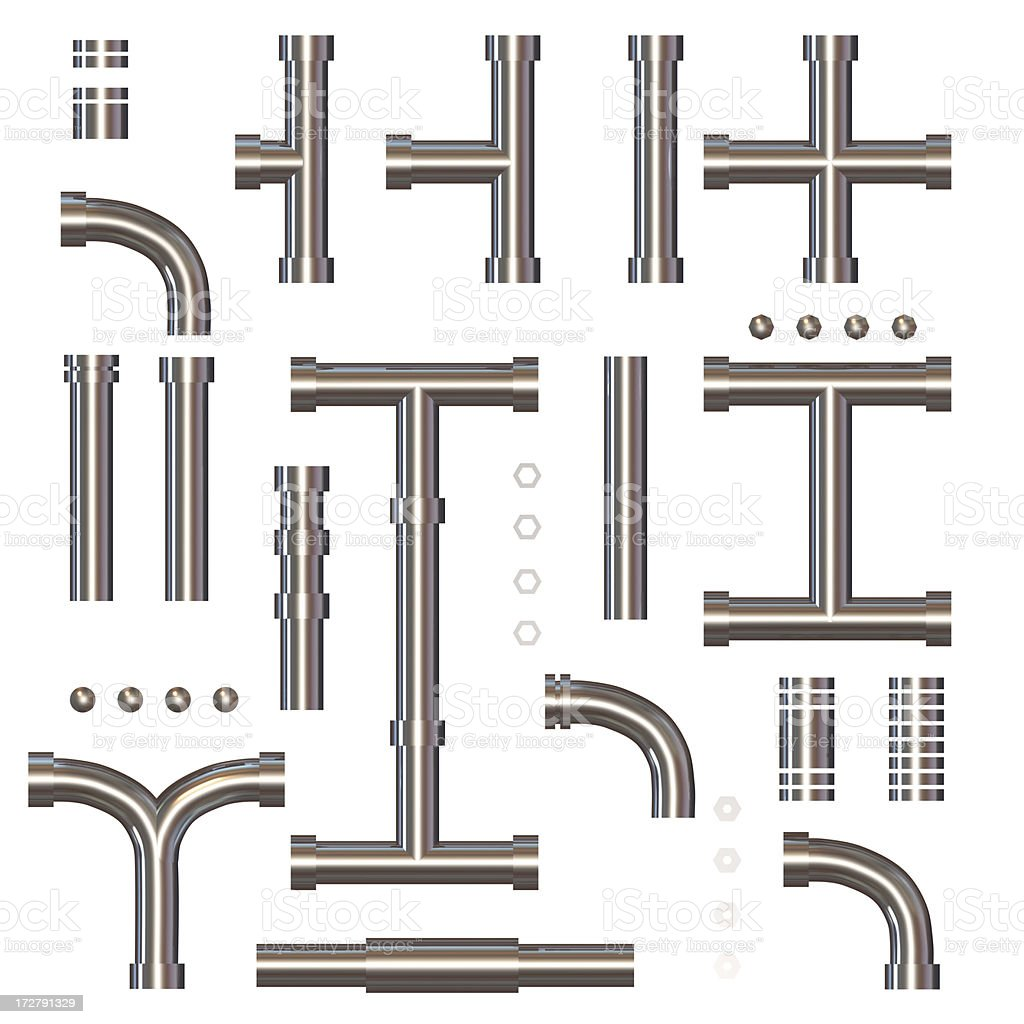 A collection of architectural border illustrations stock photo