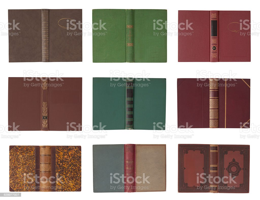 Collection of book covers stock photo
