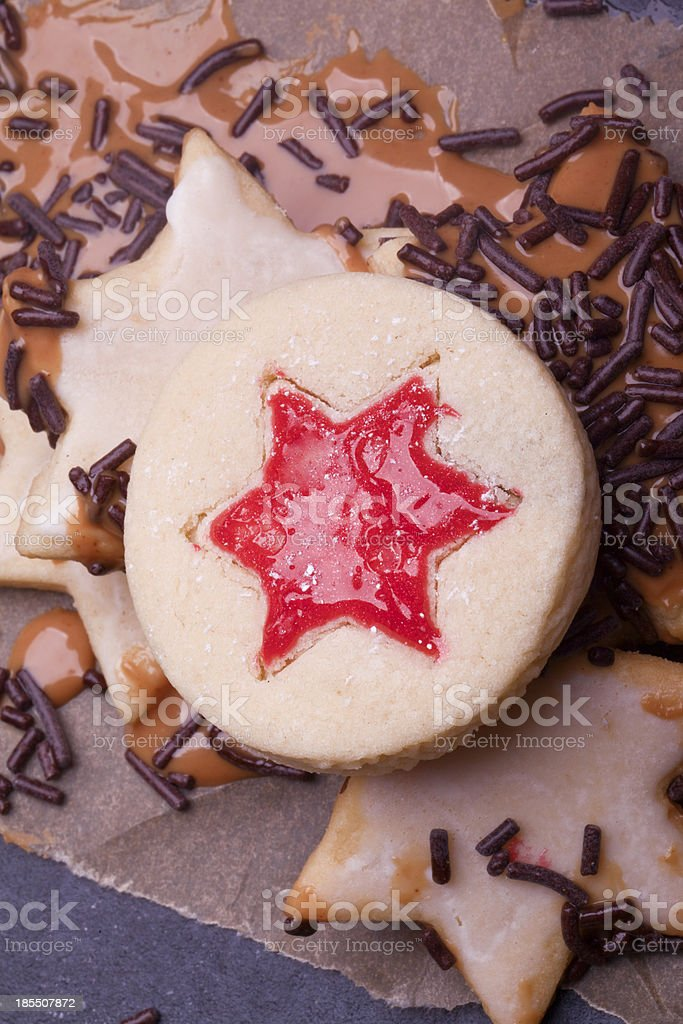 collection of christmas cookies royalty-free stock photo