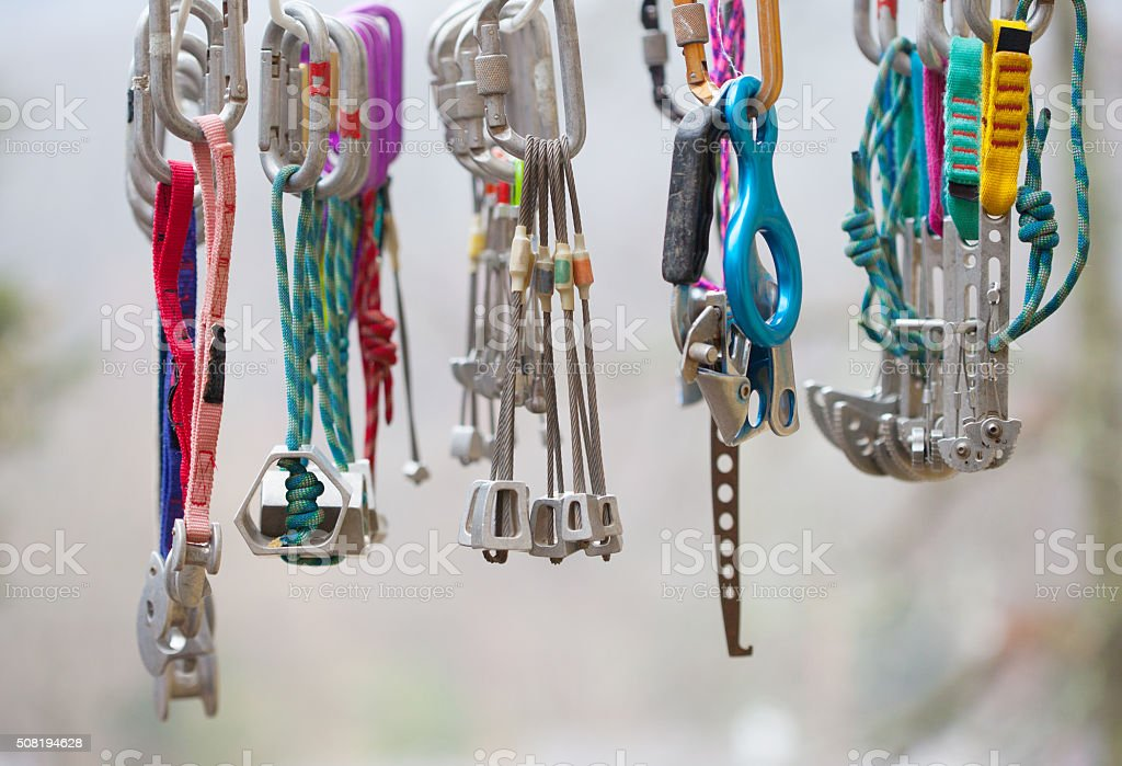 Collection of Climbing Gear stock photo