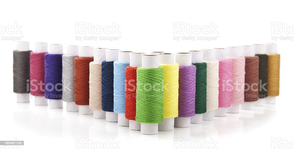 collection of color thread royalty-free stock photo