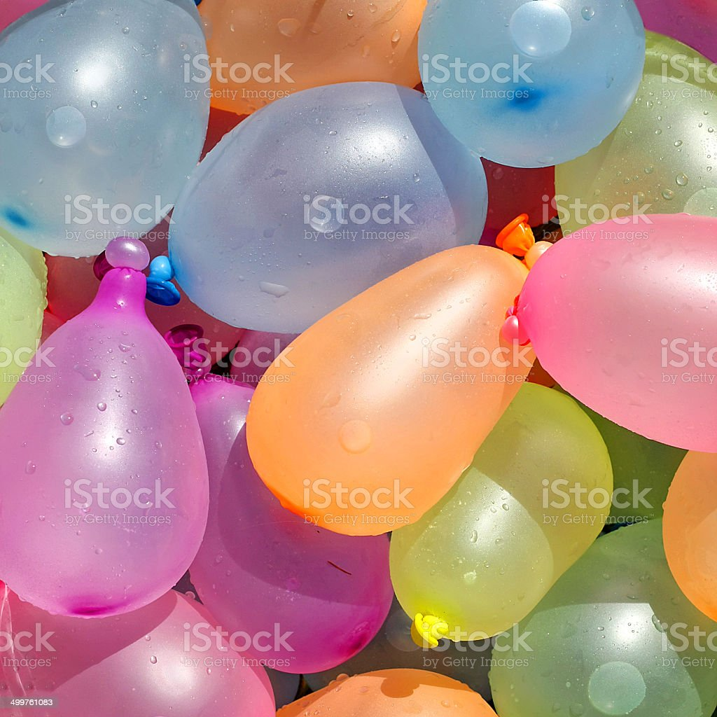 Collection of Colorful Water Balloons stock photo
