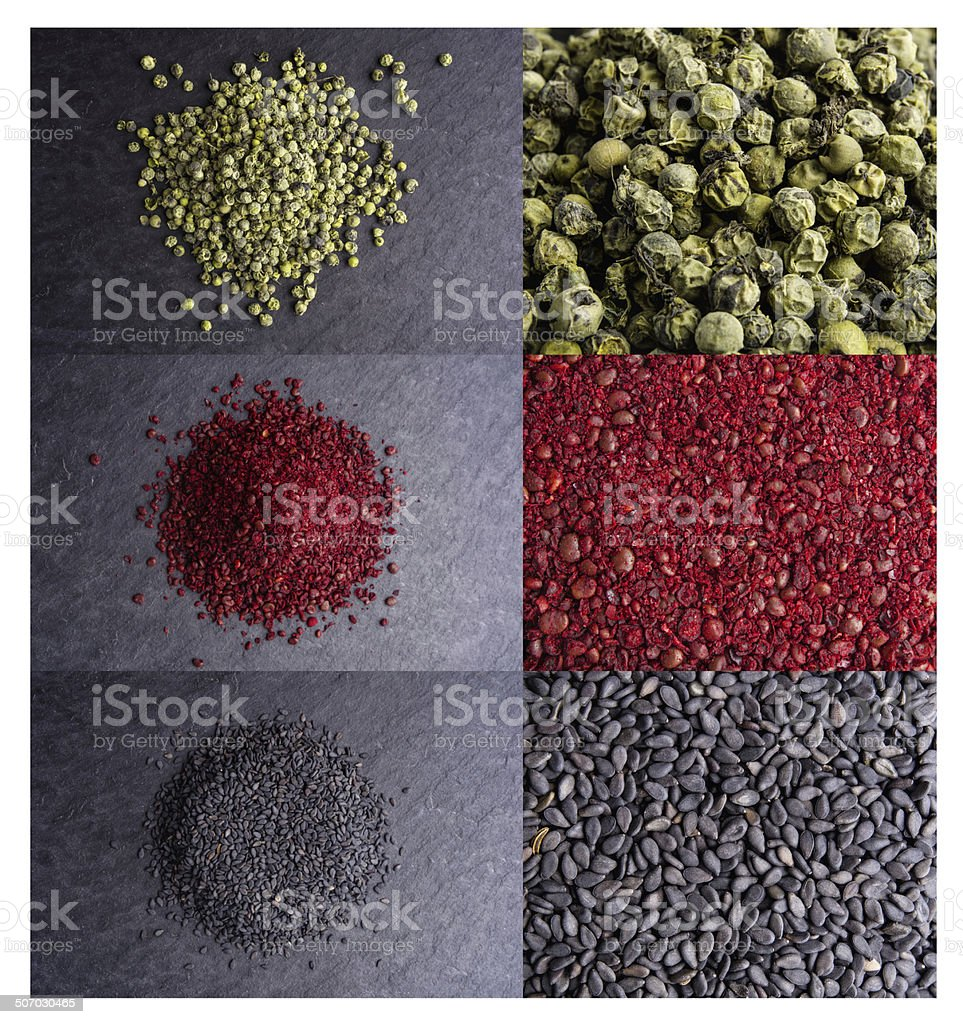 collection of different spices royalty-free stock photo