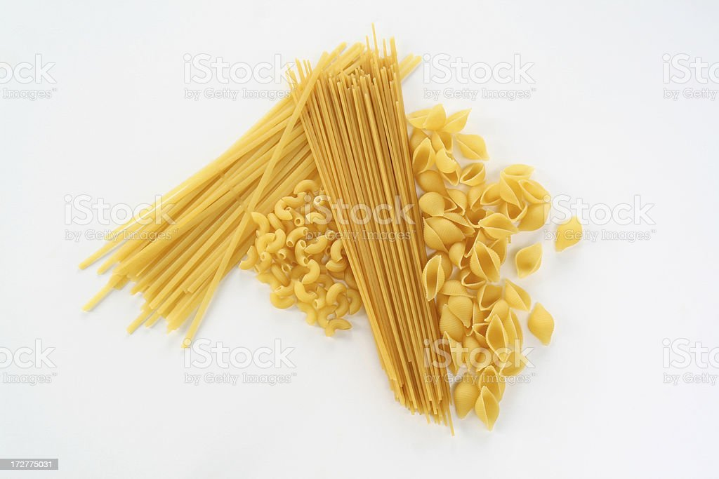 Collection of dried Pasta stock photo