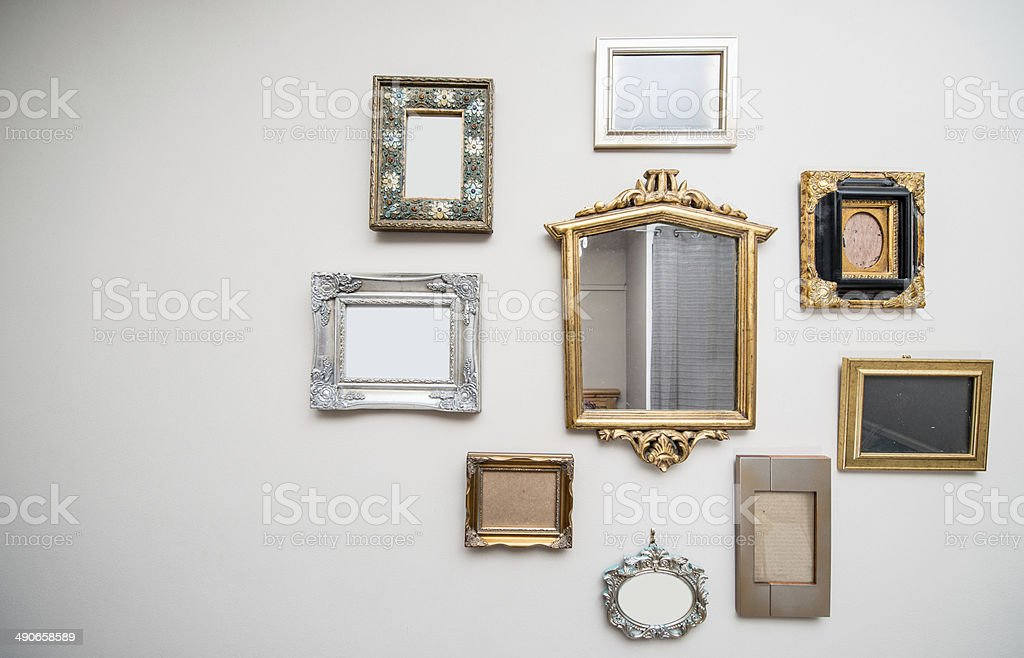 Collection of frames stock photo