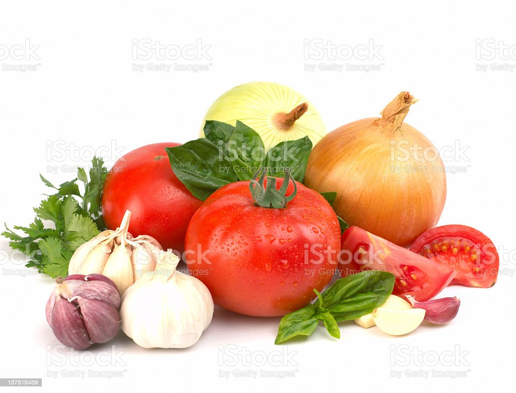 Collection of fresh vegetables stock photo