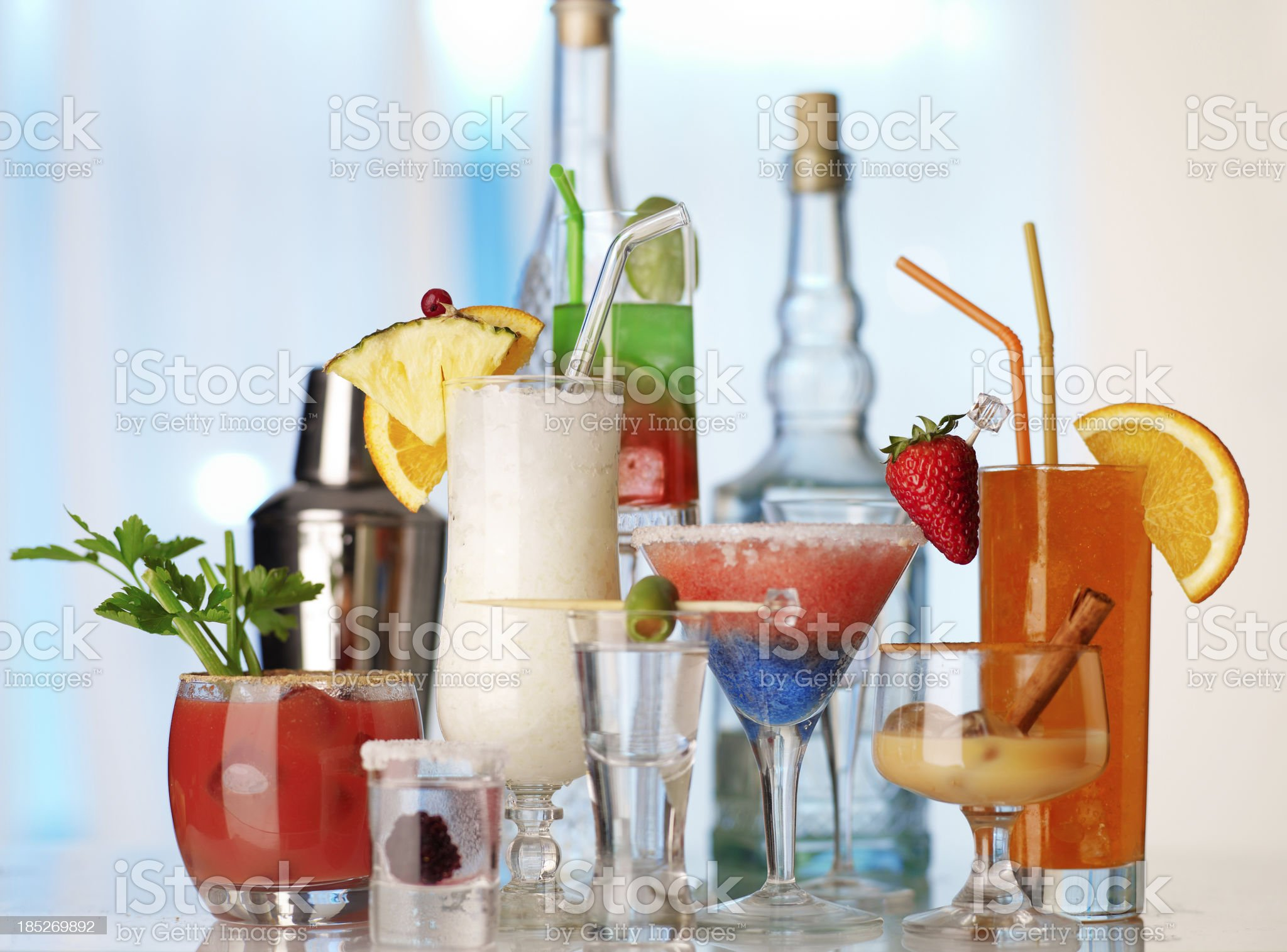 collection of fruit cocktails royalty-free stock photo