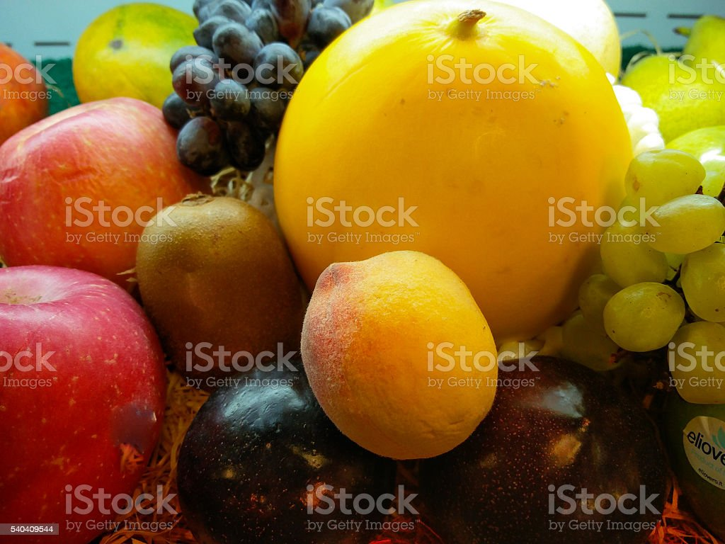 Collection of fruits stock photo