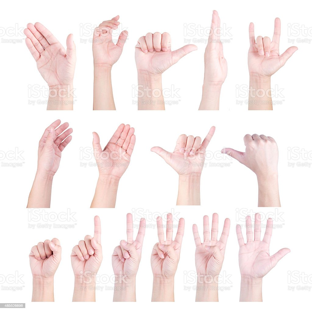 Collection of hand stock photo