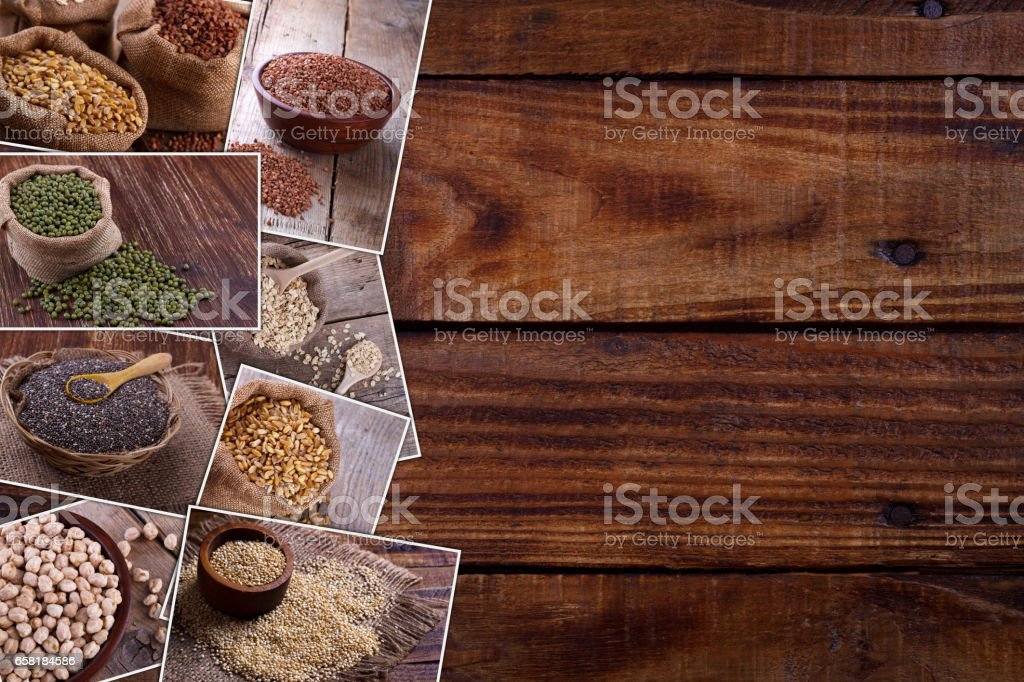 Collection of healthy products stock photo