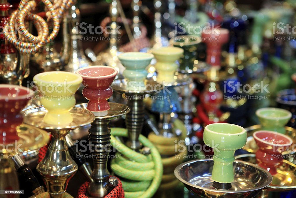 collection of hookah royalty-free stock photo