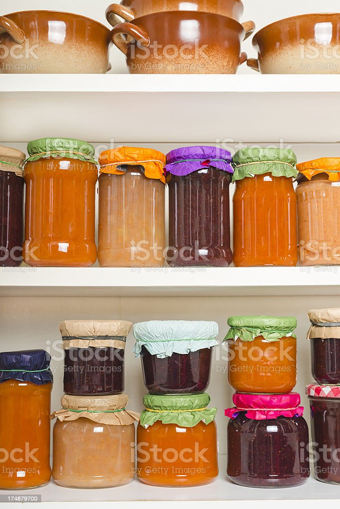 Collection of  jams stock photo