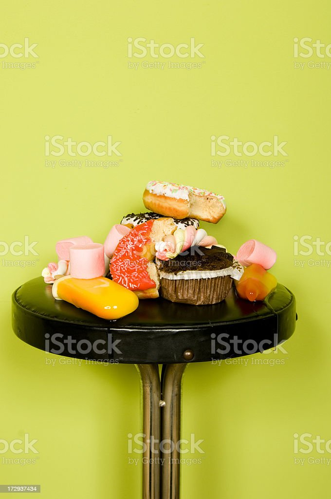 collection of junk food royalty-free stock photo