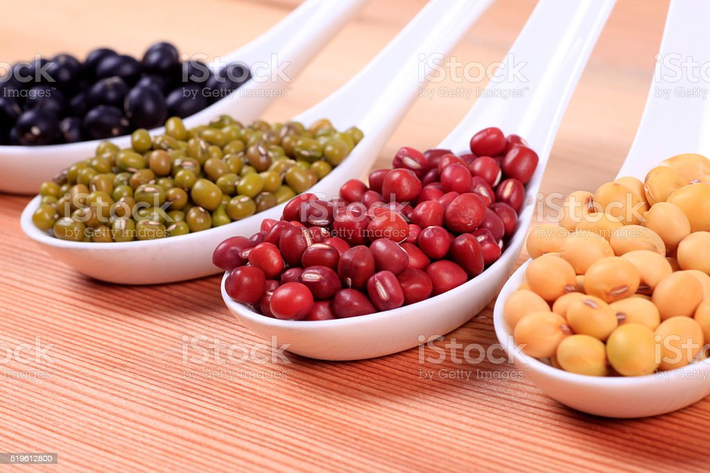 collection of legumes stock photo