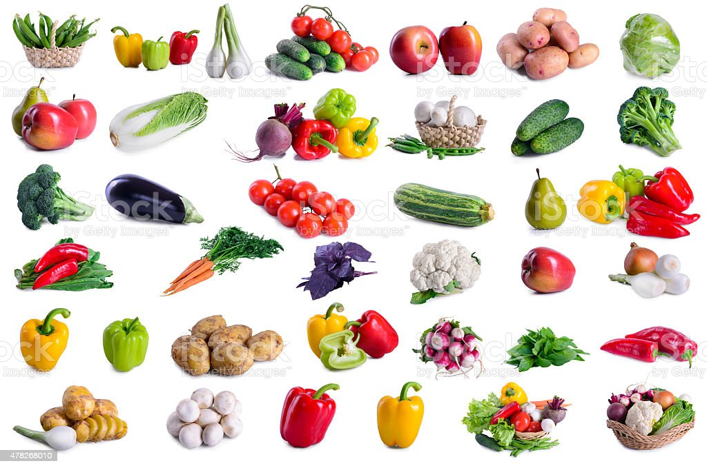collection of lot vegetables stock photo