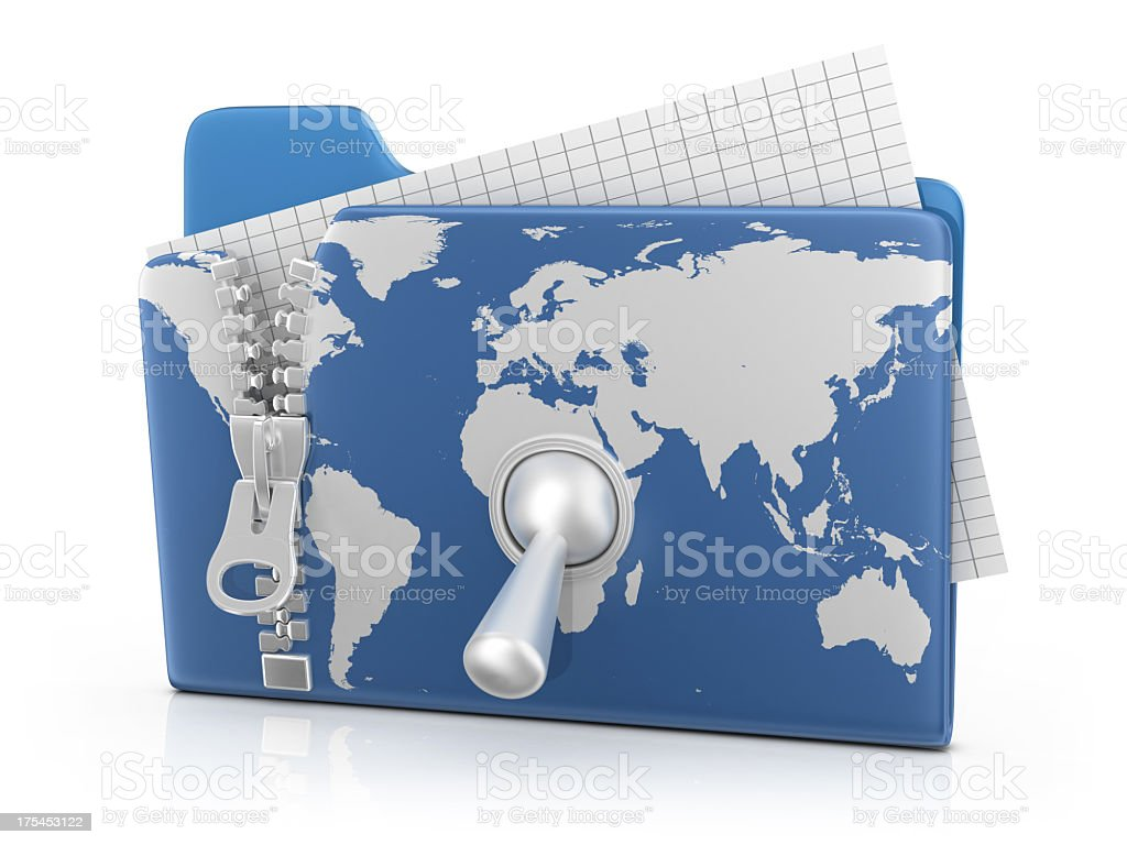 Collection of Materials Worldwide stock photo