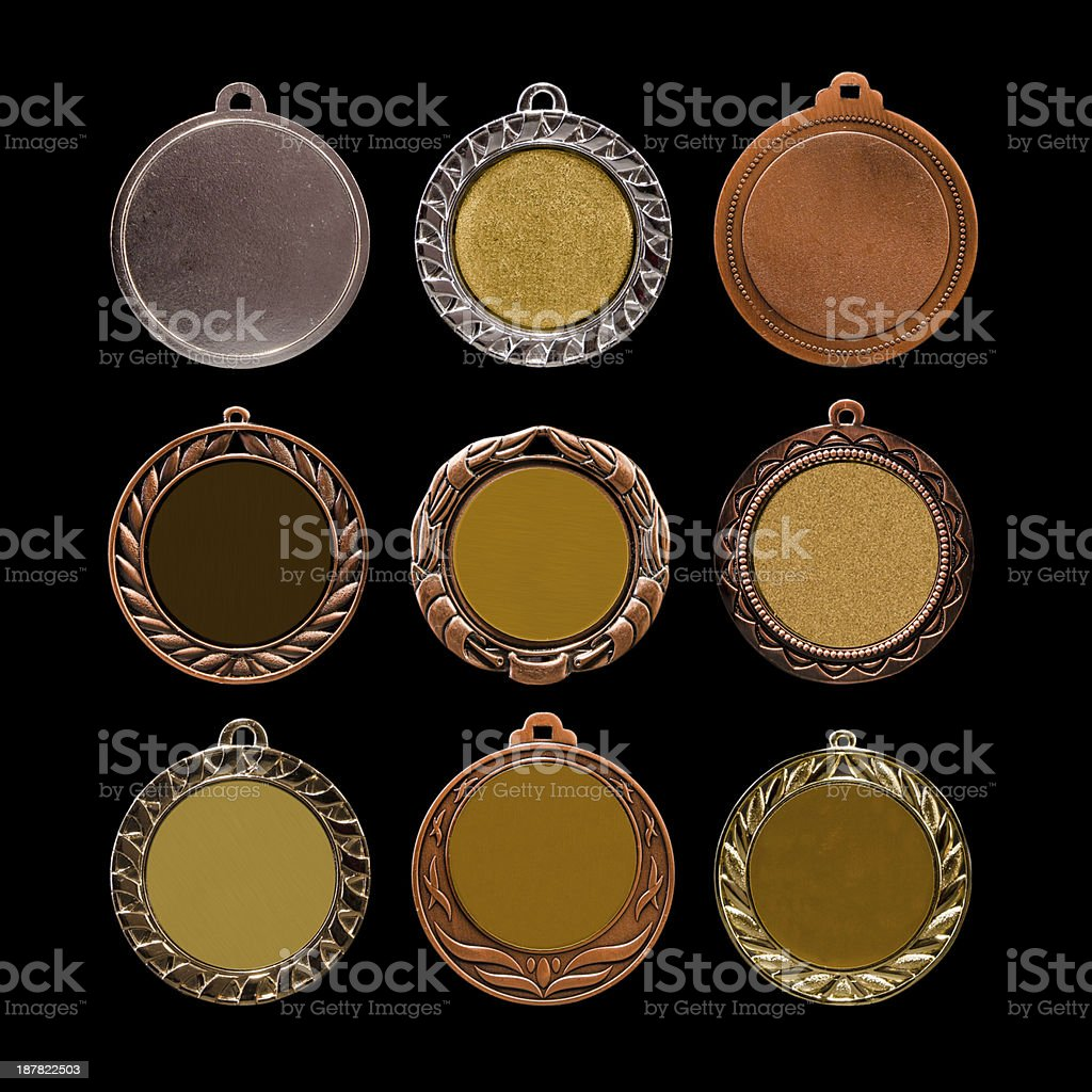 Collection of medals stock photo