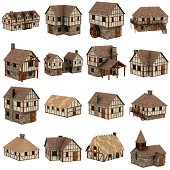 collection of medieval houses
