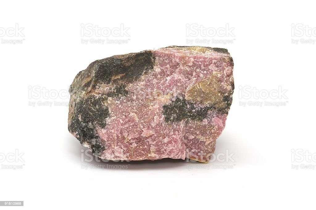 Collection of minerals - Rhodonite stock photo