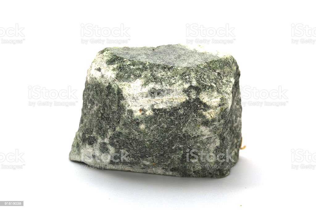 Collection of minerals - Talc schist stock photo