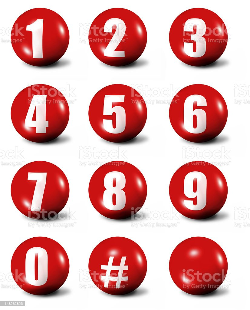 collection of numbers vector art illustration