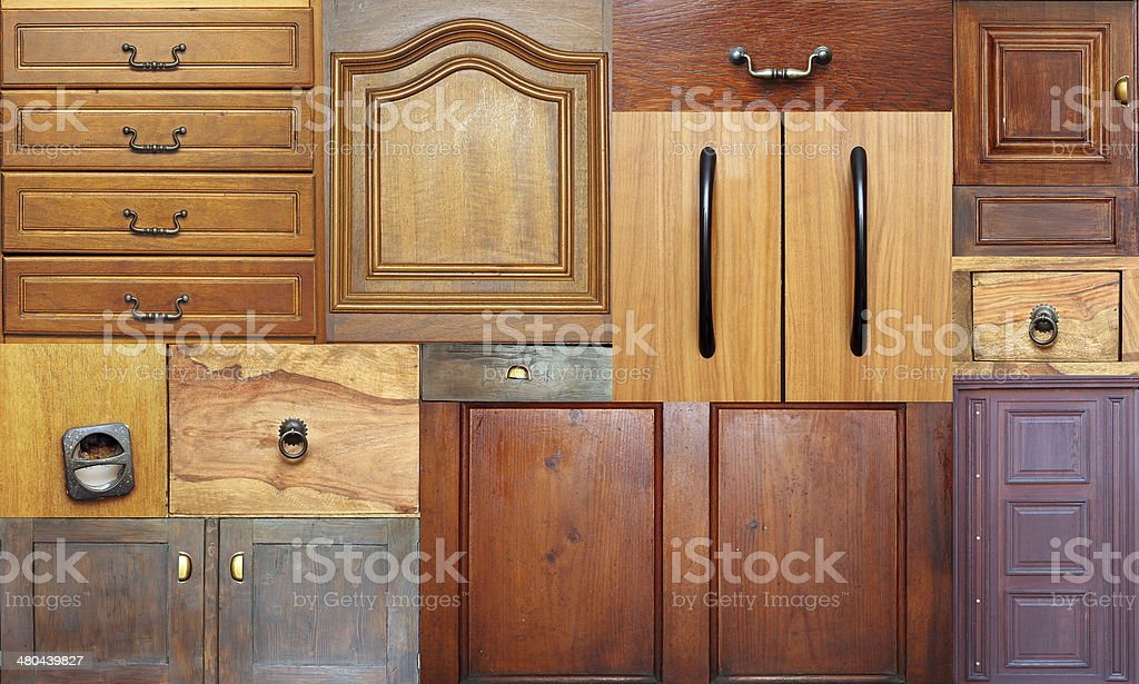 collection of old drawers stock photo