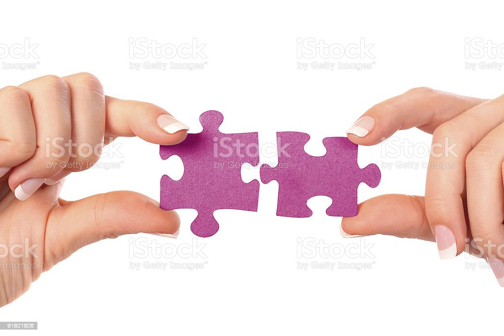 collection of puzzle pieces royalty-free stock photo