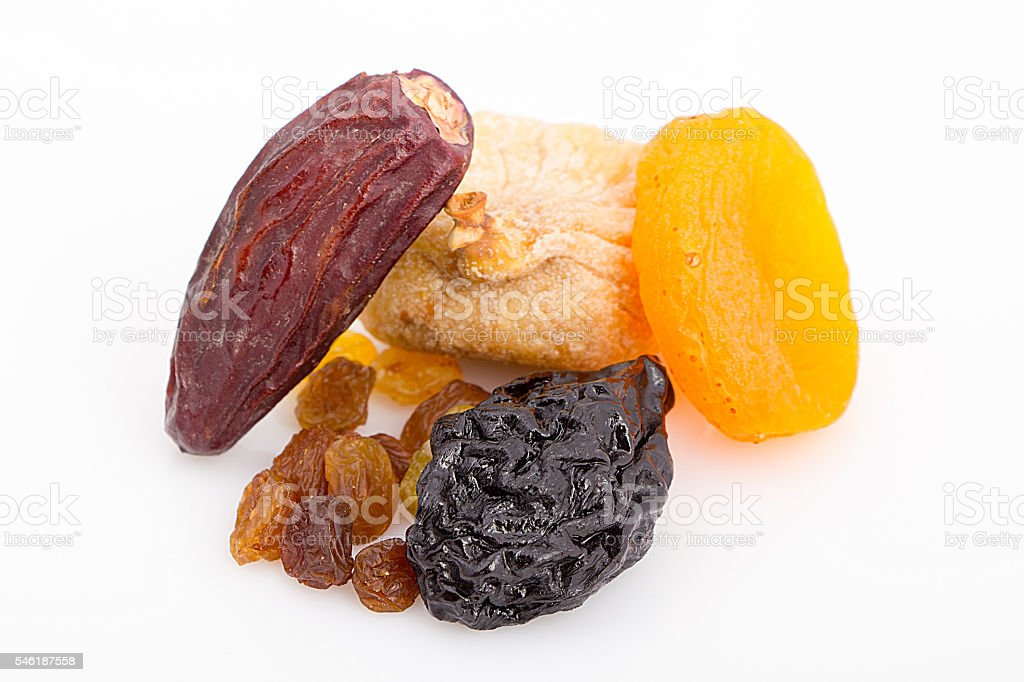 Collection of Ramadan dried fruits stock photo