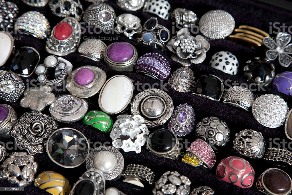 Collection of Rings stock photo