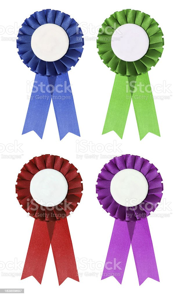 Collection of rosettes royalty-free stock photo