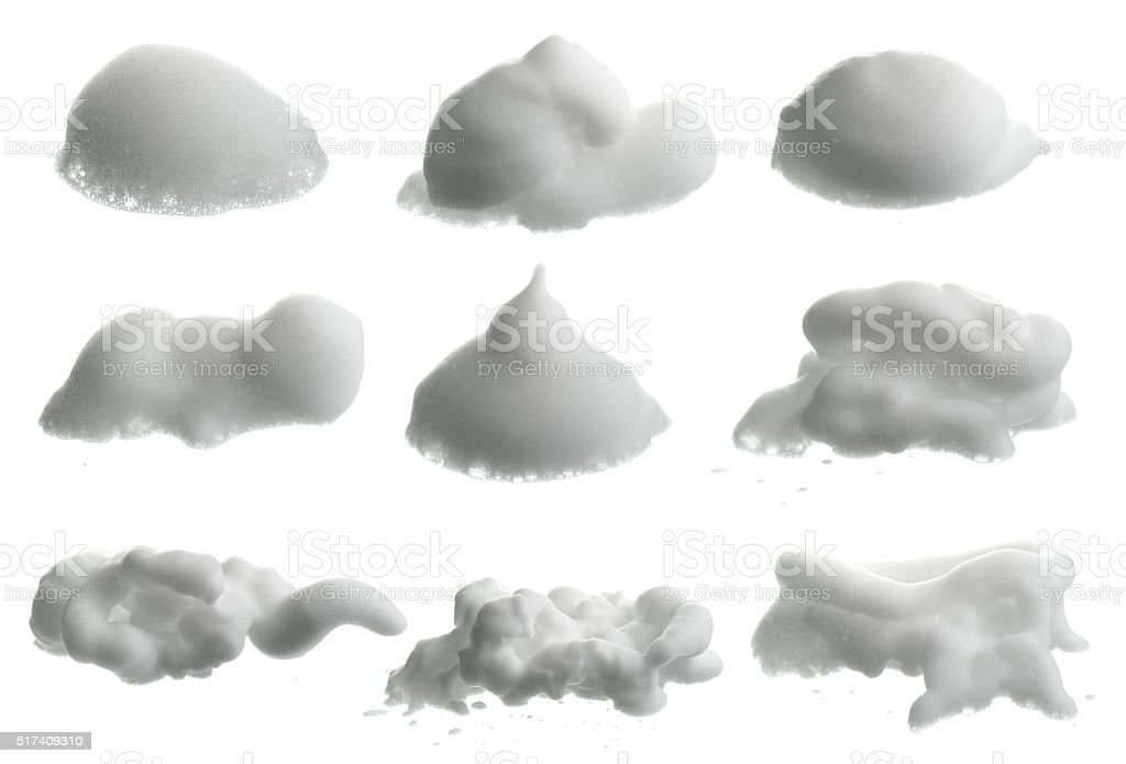 Collection of Shave foam (cream)  isolated on white stock photo