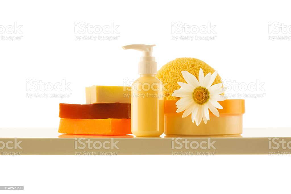 Collection of soaps moisturisers and creams (XXL) royalty-free stock photo